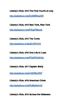 Liberty Kids Links on Youtube Safely Watched by With No Ads