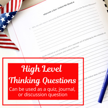 Liberty Kids Quizzes, Tests, Answer Key and Reflection Questions (Ep 21-30)