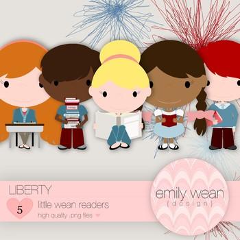 Liberty - Little Readers Clip Art