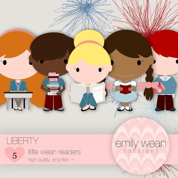Liberty - Little Readers Clip Art