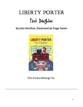 Liberty Porter: First Daughter book packet