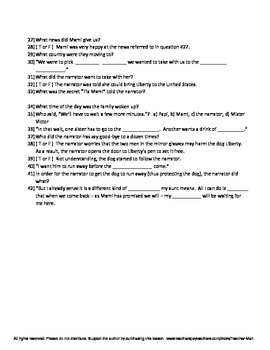 Liberty by Julia Alvarez Guided Reading Worksheet Crossword and Wordsearch