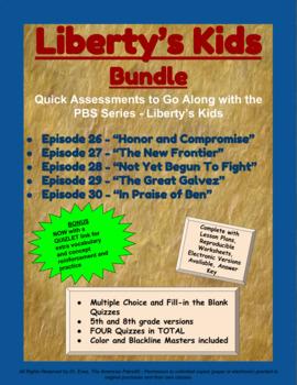 Liberty's Kids Companion Quizzes - BUNDLE - Episodes 26-30