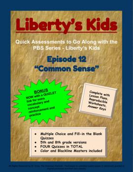 Liberty's Kids Companion Quizzes - Episode 12 - Common Sense