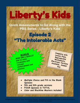 Liberty's Kids Companion Quizzes - Episode 2 - The Intolerable Acts