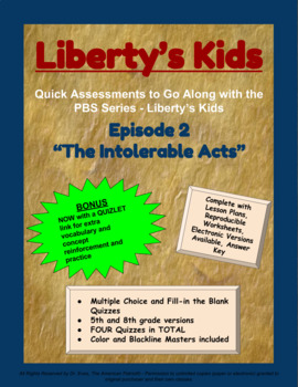 Liberty's Kids Companion Quizzes - Episode 2 - The Intolerable Acts