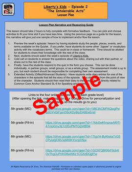 Liberty's Kids Companion Quizzes - Episode 2 - The Intolerable Acts-Google Forms