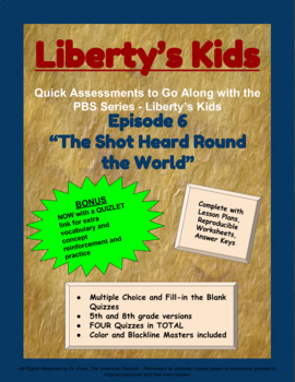 Liberty's Kids Companion Quizzes - Episode 6 - The Shot Heard Round the World