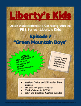 Liberty's Kids Companion Quizzes - Episode 7 - Green Mountain Boys