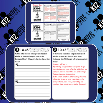 Liberty's Kids - Lafayette Arrives (E22) - Movie Guide | Worksheet