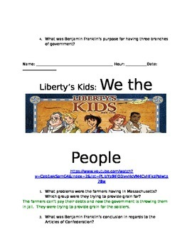 Liberty's Kids We the People Video Guide