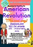 Liberty's Kids episode 102 - Intolerable Acts - questions