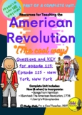 Liberty's Kids episode 115 - New York, New York - question