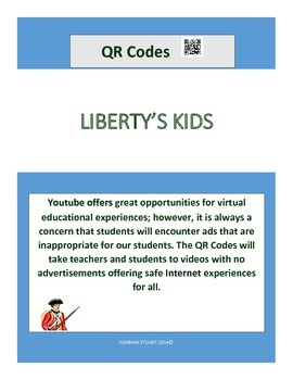 Liberty's Kids Link Cards with QR Codes (Social Studies Co