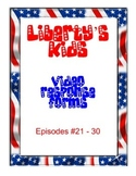 Liberty's Kids Video Response Forms Episodes 21-30