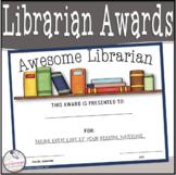 Librarian Awards- Editable!