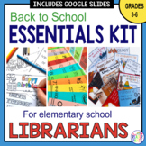 Elementary Librarian Back To School Essentials Bundle