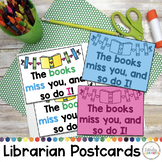 Librarian Miss You Postcards Freebie