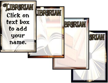 """""""Librarian"""" Notepad Sheets Set {Editable}"""