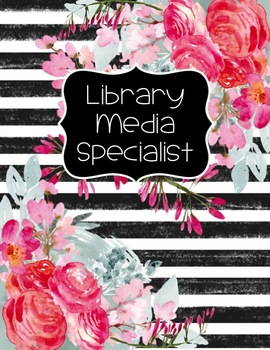 Librarian Planner  2016-2017 Classic Gold Glitter w/ Black