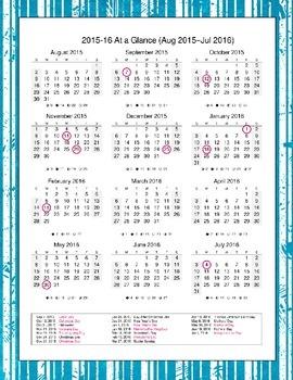 Librarian Planner & Organizer 2015-2016 (Blue Ice)