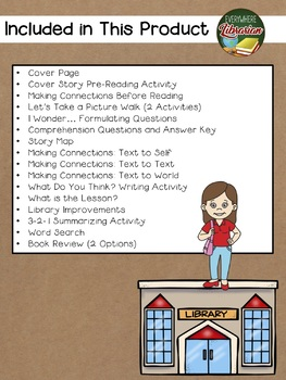 Librarian on the Roof by King 18 Book Extension Activities NO PREP