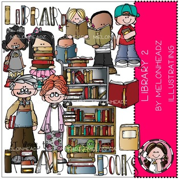 Library clip art 2 - COMBO PACK- by Melonheadz