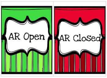 Library & AR open/close Signs, AR reward tracking cards