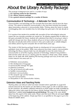 Library Activity Book: Communication and Technology