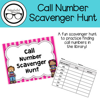 Library Activity: Call Number Scavenger Hunt