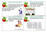 Library Activity Cards