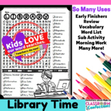 Library Activity: Library Word Search