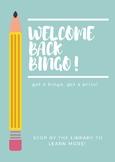 Library Activity! Welcome Back Bingo!