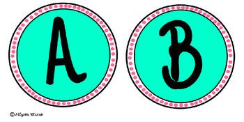 Library Alphabet Level Labels