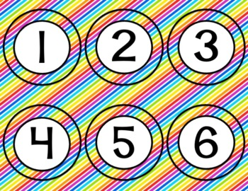 Library Alphabet for Bins and Numbers 1-30 Rainbow Theme ~ Back to School