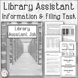 Library Assistant Information and Filing Task