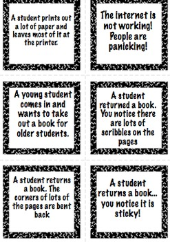 Library Assistant Training Conversation Cards - Elementary and Middle School