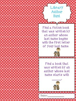 Library Author Hunt