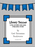 Library Banner in primary colors
