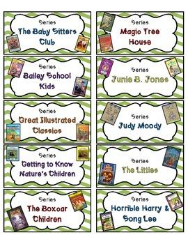 Library Basket Labels