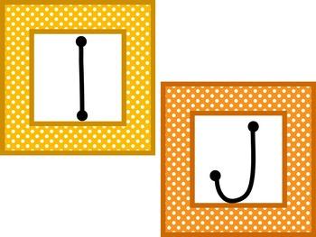 Library Basket Labels A-Z