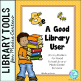 Library Rules Bee Posters for Good School Library Behavior FREE