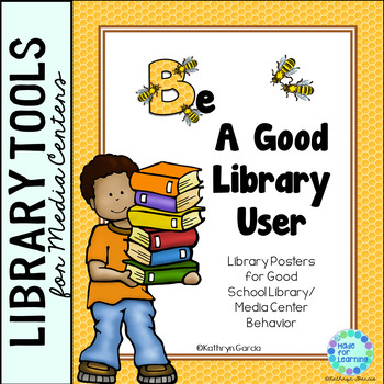 Library 'Bee' Posters for Good School Library/Media Center