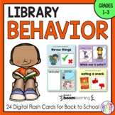 Library Behavior Back to School Boom Cards