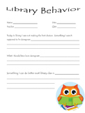 Library Behavior Form