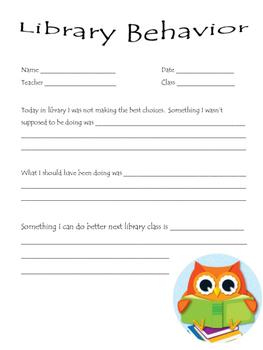 Library Behavior Form