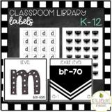 Library Bin & Book Labels K-5
