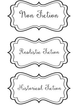 Library Bin Labels