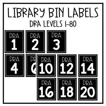 Library Bin Labels - DRA