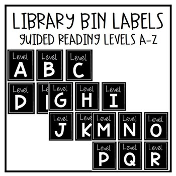 Library Bin Labels - Guided Reading